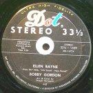 """BOBBY GORDON~Ellen Bayne~Dot 1539 (Easy Listening) VG+ 7"""" 33 RPM"""