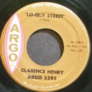 CLARENCE HENRY~Lonely Street~Argo 5395 (Soul) VG+ 45