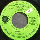 CROW~Evil Woman Don't Play Your Games with Me~Amaret 112 (Blues)  45