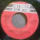 JOHNNY MATHIS & DENIECE WILLIAMS~Too Much, Too Little, Too Late~Columbia 33360 (Soul)  45