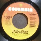 USA FOR AFRICA~We Are the World~Columbia 04839 (Soul)  45