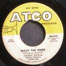 BOBBY DARIN~Mack the Knife~ATCO 6147 (Rock & Roll)  45