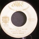 DALE & GRACE~I'm Leaving it All Up to You~Jin 1007 VG+ 45