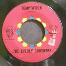 EVERLY BROTHERS~Temptation~Warner Bros. 5220 (Rock & Roll)  45