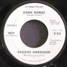 GEORGE HARRISON~Dark Horse~Apple 1877 (Soft Rock)  45