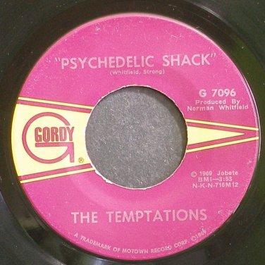 THE TEMPTATIONS~Psychedelic Shack~Gordy 7096 (Soul) VG++ 45