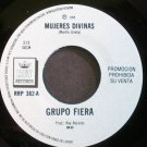 GRUPO FIERA~Mujeres Divinas~Rey 382 Promo M- Mexico 45