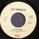 LOS TERRICOLAS~La Otra Noche~EMI 965 Promo M- Mexico 45