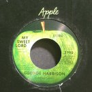GEORGE HARRISON~My Sweet Lord~Apple 2995 (Soft Rock) VG 45