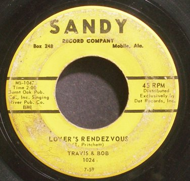 TRAVIS & BOB~Lover's Rendezvous~Sandy 1024 (Rockabilly)  45