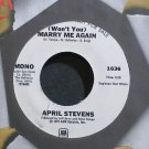 APRIL STEVENS~(Won't You) Marry Me Again~A&M 1636 (Soft Rock) Promo Rare M- 45