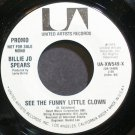 BILLIE JO SPEARS~See the Funny Little Clown~United Artists UA-XW549-X Promo VG+ 45