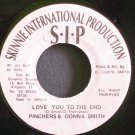DONNA SMITH & PINCHERS~Love You to the End~Skinnie Int'l Production NONE VG++ Jamaica 45