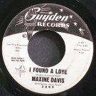 MAXINE DAVIS~I Found a Love~Guyden 2099 (Soul) Promo Rare HEAR 45