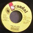 MEDITATIONS & GRINDSMAN~Miss My Love~$candal 001 VG++ Jamaica 45