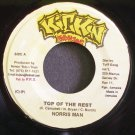 NORRIS MAN & CHRISTOPER~Top of the Rest~Kickin Productions NONE VG++ Jamaica 45