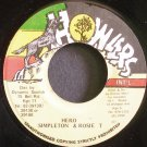 SIMPLETON & ROSIE T.~Hero~Howlers NONE VG++ Jamaica 45