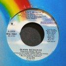 GLENN MEDEIROS~She Ain't Worth it~MCA 79047 (Synth-Pop) M- 45