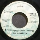 JO-EL SONNIER~I've Been Around Enough to Know~Mercury 73702 Promo 45