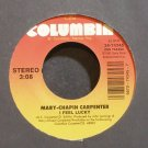MARY CHAPIN CARPENTER~I Feel Lucky~Columbia 74345 VG+ 45