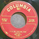 PERCY FAITH~I'll Be Seeing You~Columbia 2184 VG+ 45
