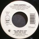 TEVIN CAMPBELL~Tell Me What You Want Me to Do~Qwest 19131 (Soul) VG+ 45
