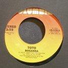 TOTO~Rosanna~Columbia 02811 (Soft Rock) VG++ 45