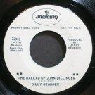 BILLY GRAMMER~The Ballad of John Dillinger~Mercury 72836 Promo VG+ 45