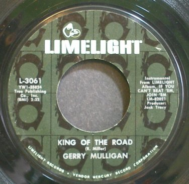 GERRY MULLIGAN~King of the Road~Limelight 3061 (Saxophone) VG+ 45