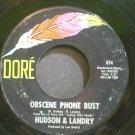 HUDSON & LANDRY~Obscene Phone Bust~Dore 874 VG++ 45