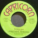 JONATHAN EDWARDS~Sunshine~Capricorn 8021 VG++ 45