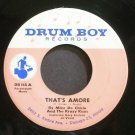 MIKE DE CHICIO~That&#39;s Amore~Drum Boy 114 (Garage Rock) Rare VG+ 45
