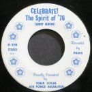 PAMS~Celebrate! the Spirit of '76~Air Force 11004 (General Holiday) VG+ 45