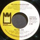 SILVER CONVENTION~No, No, Joe~Midland Int'l 10723 (Disco) VG++ 45