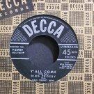 BING CROSBY~Y'all Come~Decca 28969 VG++ 45