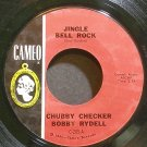 BOBBY RYDELL & CHUBBY CHECKER~Jingle Bell Rock~Cameo 205 (Christmas) VG+ 45