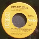 DANNY DAVIS~Columbus Stockade Blues~RCA 9847 VG+ 45