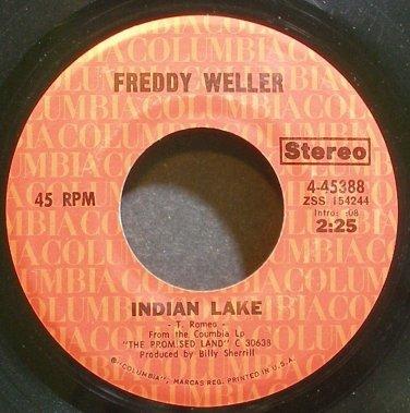FREDDY WELLER~Indian Lake~Columbia 45388  45