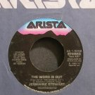 JERMAINE STEWART~The Word is Out~Arista 1-9256 (Soul) VG+ 45