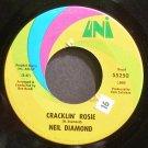 NEIL DIAMOND~Cracklin' Rosie~UNI 55250 VG++ 45