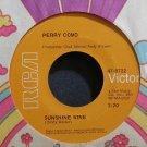 PERRY COMO~Sunshine Wine~RCA Victor 9722 VG+ 45
