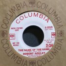 ROBERT GOULET~The Name of the Game~Columbia 43029 (Jazz Vocals) Promo VG++ 45