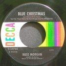 RUSS MORGAN~Blue Christmas~Decca 24766 (Christmas) VG+ 45