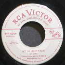 TOMMY DORSEY~Not So Quiet Please~RCA Victor 0004 (Big Band Swing) VG++ 45