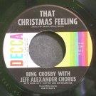 BING CROSBY~That Christmas Feeilng~Decca 27229 (Christmas) VG++ 45