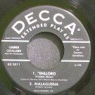 CARMEN CAVALLARO~Enlloro (Voodoo Moon)~Decca 2011  45 EP