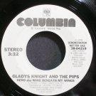 GLADYS KNIGHT & THE PIPS~Hero~Columbia 04219 (Soul) Promo VG+ 45