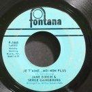 JANE BIRKIN & SERGE GAINSBOURG~Je T'aime ... Moi Non Plus~Fontana 1665 (Chanson)  45
