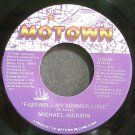 MICHAEL JACKSON~Farewell My Summer Love~Motown 1739 MF (Synth-Pop) VG++ 45