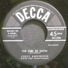 LEROY ANDERSON~The Girl in Satin~Decca 28881  45
